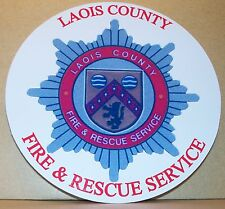 Irish Fire and Rescue Service Laois County vinyl sticker personalised..