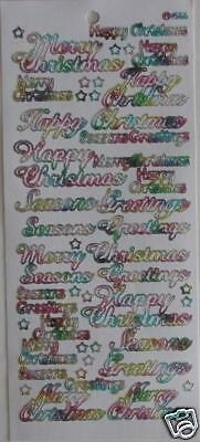 2.3552 ml//wh Outline Sticker Various Happy Merry Christmas