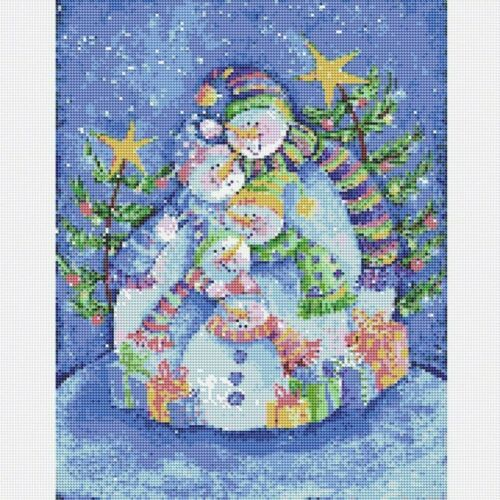 Christmas Gift Snowman Family 5D Diamond Painting Kits Full Drill Home Decor DIY
