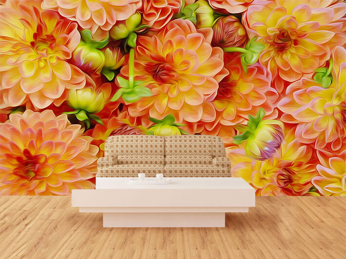 3D flower Big Bright photo Wall Paper Print Decal Decal Decal Wall Deco Indoor wall Mural d28262