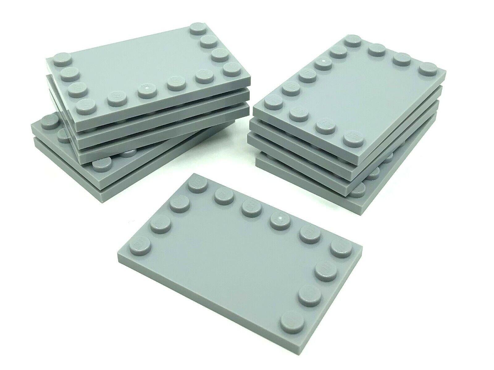 6180 LEGO Tile 4 x 6 with Edge Studs x2