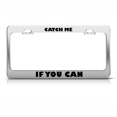 2 Holes with Screws Stainless Steel Humor Funny Car License Plate Cover AllCustom4U Durable License Plate Frame for Women//Men