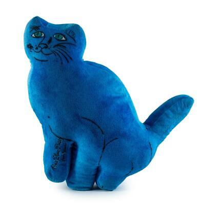 """NEW Andy Warhol One Blue Pussy Cat 15/"""" Limited Edition Plush by Kidrobot"""