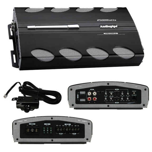 NEW AUDIOPIPE AQX360 4 4 CHANNEL 2500 WATT CAR AUDIO AMPLIFIER 4CH 2500W AMP