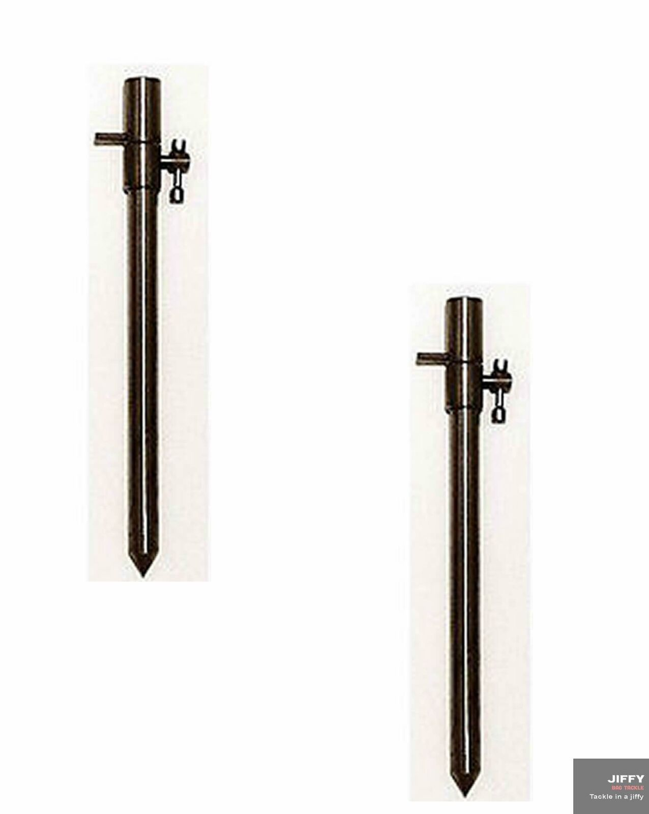 SPECIAL OFFER PAIR OF 50cm-90cm STAINLESS STEEL BANK STICKS WITH SCREW ENDS
