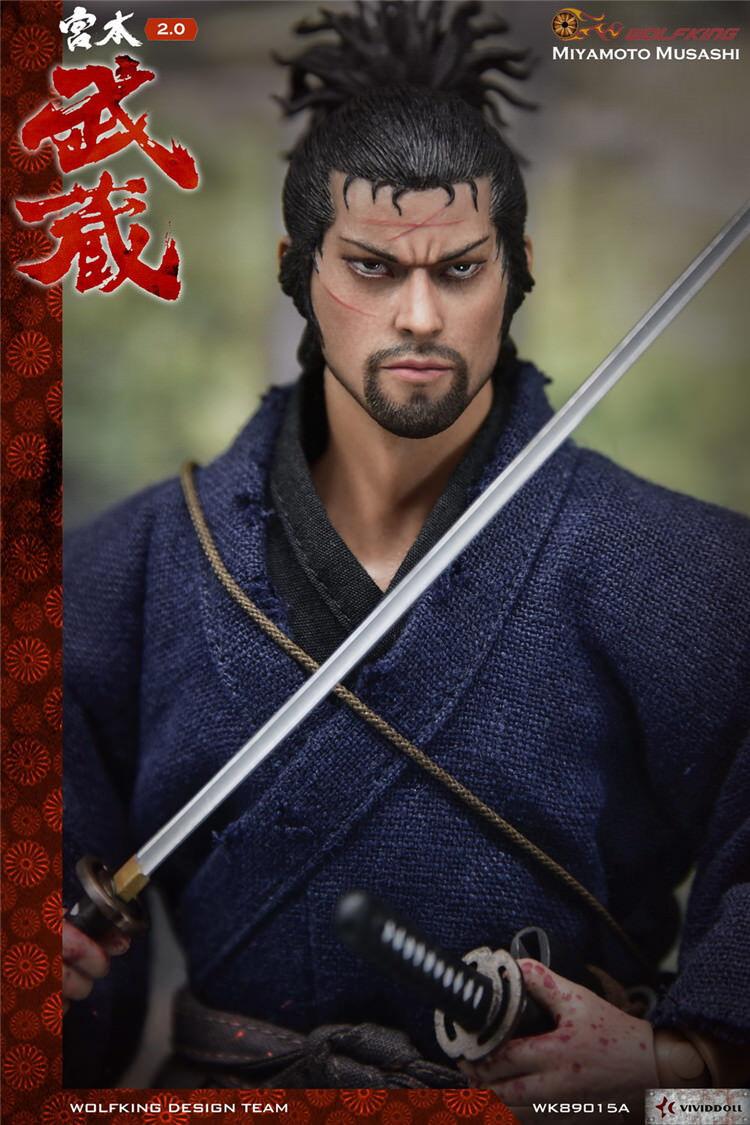 In magazzino Wolfking WK89015A 1/6 SCALA 12in Action Figure SAMURAI Miyamoto Musashi
