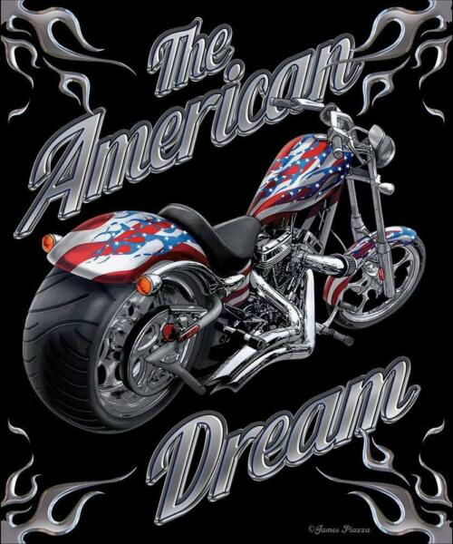"""""""the American Dream"""" Silk Touch Throw Blanket 50""""x60"""" Motorcycle"""