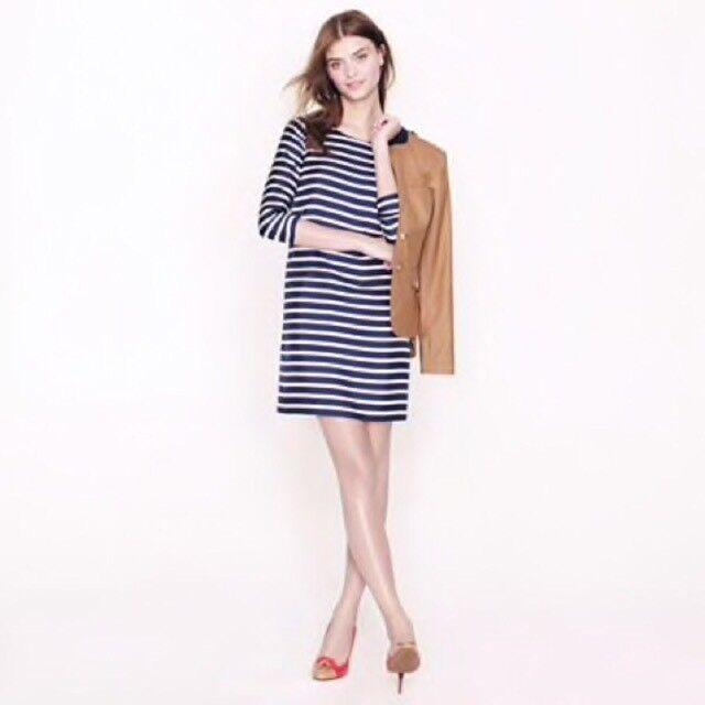 NWOT J. Crew Jules Dress In stripe silk twill Größe 2