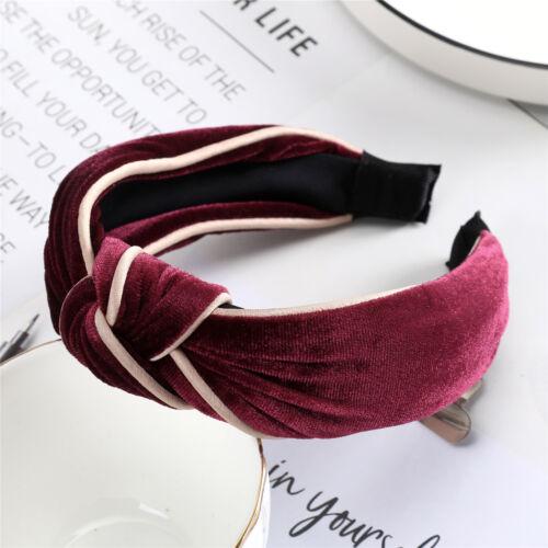 Ladies Tie Headband Hairband Bow Knot Velvet Alice Hair Hoop Band Accessories