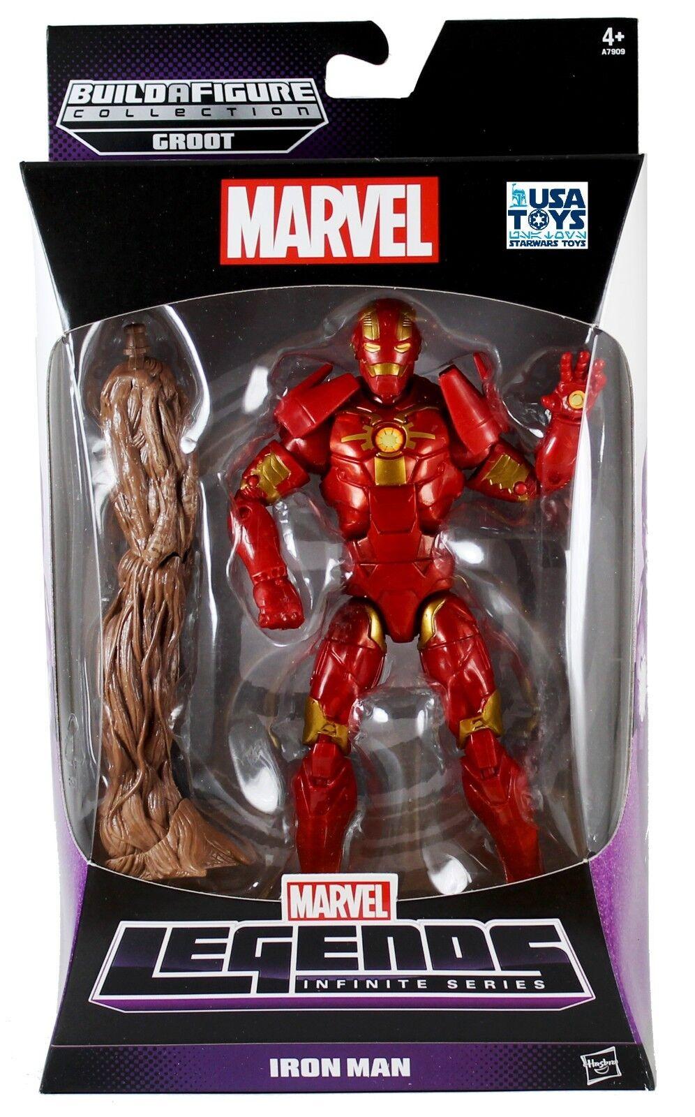 MARVEL Legends Infinite Series IRON MAN Platinum Build GROOT Guardians MISB