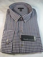Van Heusen Premium No Iron Long Sleeve Dress Shirt, Reg. Fit, Purple Plaid