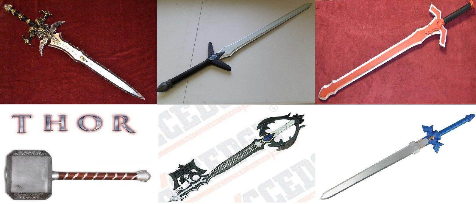Anime Marvel Replica Hard Foam Latex Swords Hammer Zelda Thor Geek SAO KH Link