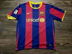 Leo Messi Fc Barcelona 2010 11 Season Jersey Home Pep Barca Unicef Treble Size S Ebay