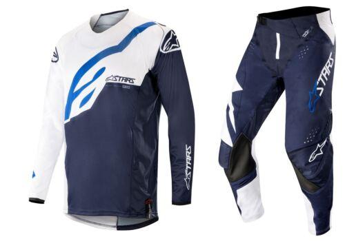 2019 Alpinestars Men/'s MX gear Techstar Factory White//Dark Navy Motocross