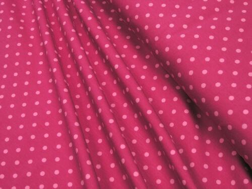 Jersey • Little Darling • rosa Punkte auf dpink • Baumwoll Jersey • 0,5m