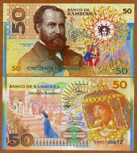 Kamberra, 50 Numismas, 2018, UNC > Charles Gounod, Commemorative