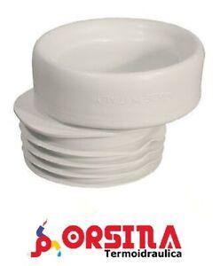 Guarnizione per wc in PVC bianca prolunga eccentrica