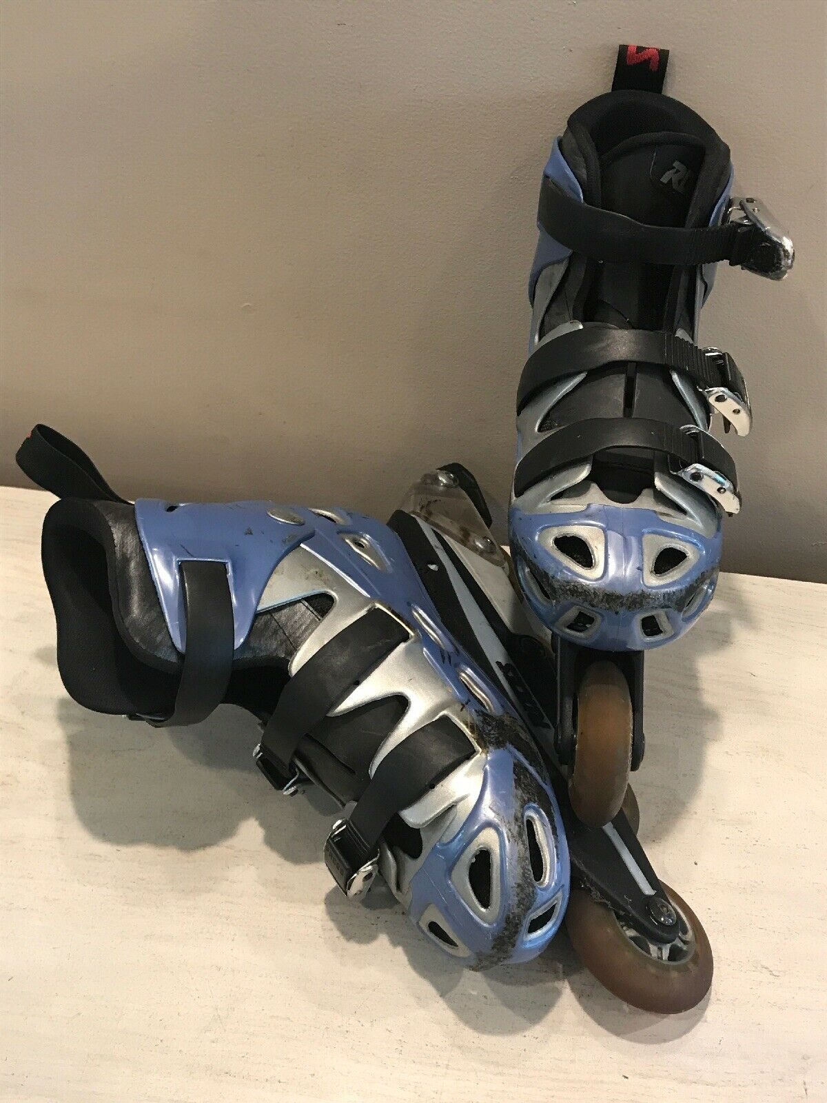 Women's Inline S s Roller Blades Roces bluee  Size 8 & Pads  more order
