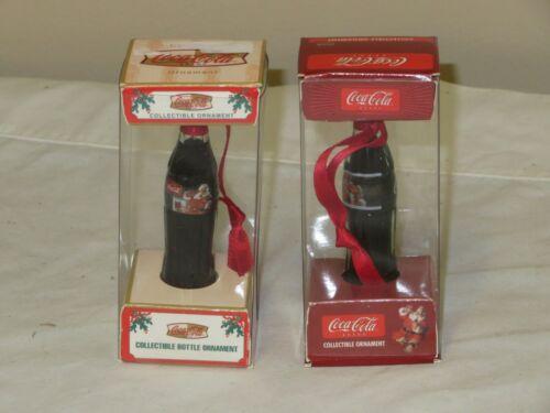 "COCA COLA MINI BOTTLE 3/"" TALL 2002,2003 CHRISTMAS BOTTLES"