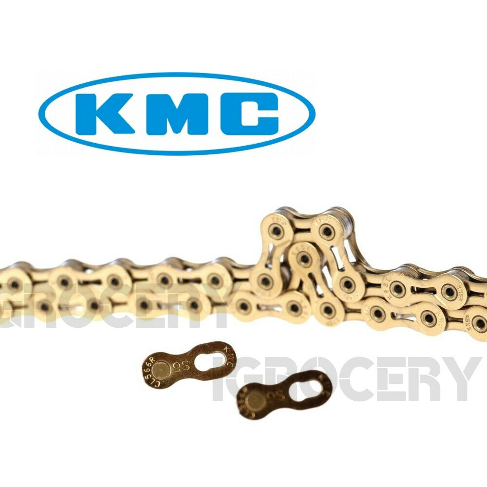 "KMC X9SL----9-24 SPEED 1//2/"" X 11//128/"" MTB-ROAD TI NITRIDE GOLD BICYCLE CHAIN"