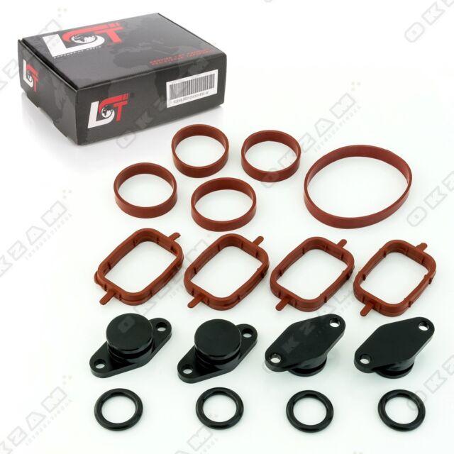 Doble Giro Kit 4x 22mm Negro Colector Admisión con Junta Tórica para BMW E60