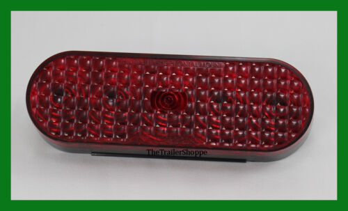 """Red 6/"""" Oval Grommet Mount SST LED Stop Tail Turn Light 5 LED Tecniq USA Made"""
