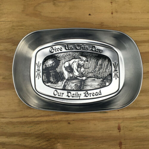 """/""""Give Us This Day Our Daily Bread/""""Aluminum//Tin Tray by Dat/'l-Do-It  10/"""" X 6 1//2/"""""""