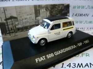 PIT3D-voiture-1-43-Altaya-IXO-Fourgonette-ITALIE-FIAT-500-Jardiniere-SIP-tel-67