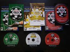 LOT 3 JEUX PLAYSTATION 2 PS2 WORLD SERIES OF POKER + 2007 + 2008 (COMPLET suivi)