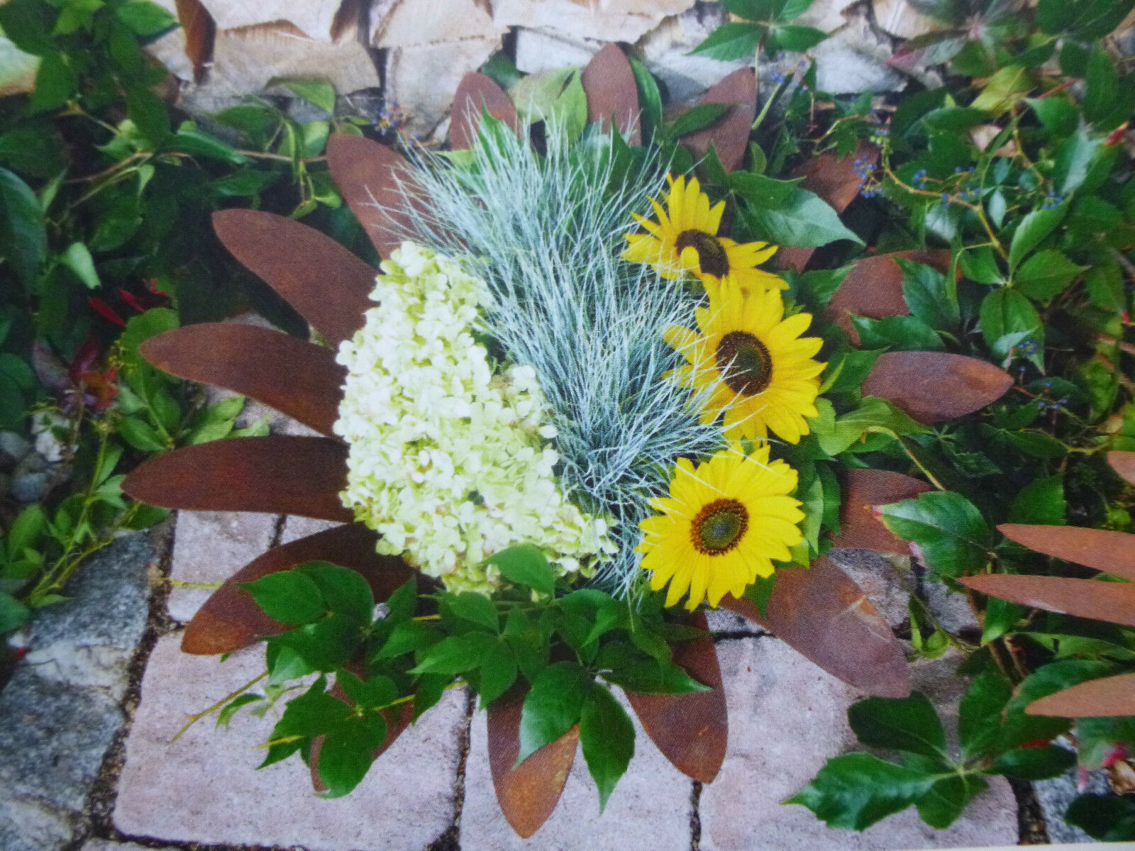 Wunderschöne Edelrost Schale Schale Schale Blüte Dekoschale Säule Gartendekoration Terrasse | Verpackungsvielfalt  3429bb