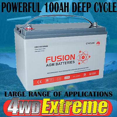 12V 100AH AGM DEEP CYCLE BATTERY CBC12V100 CARAVAN SOLAR BOAT 4X4 POWER SUPPLY