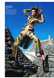 PUBLICITE ADVERTISING    2011   ALEXANDER MAC QUEEN haute couture DARIA