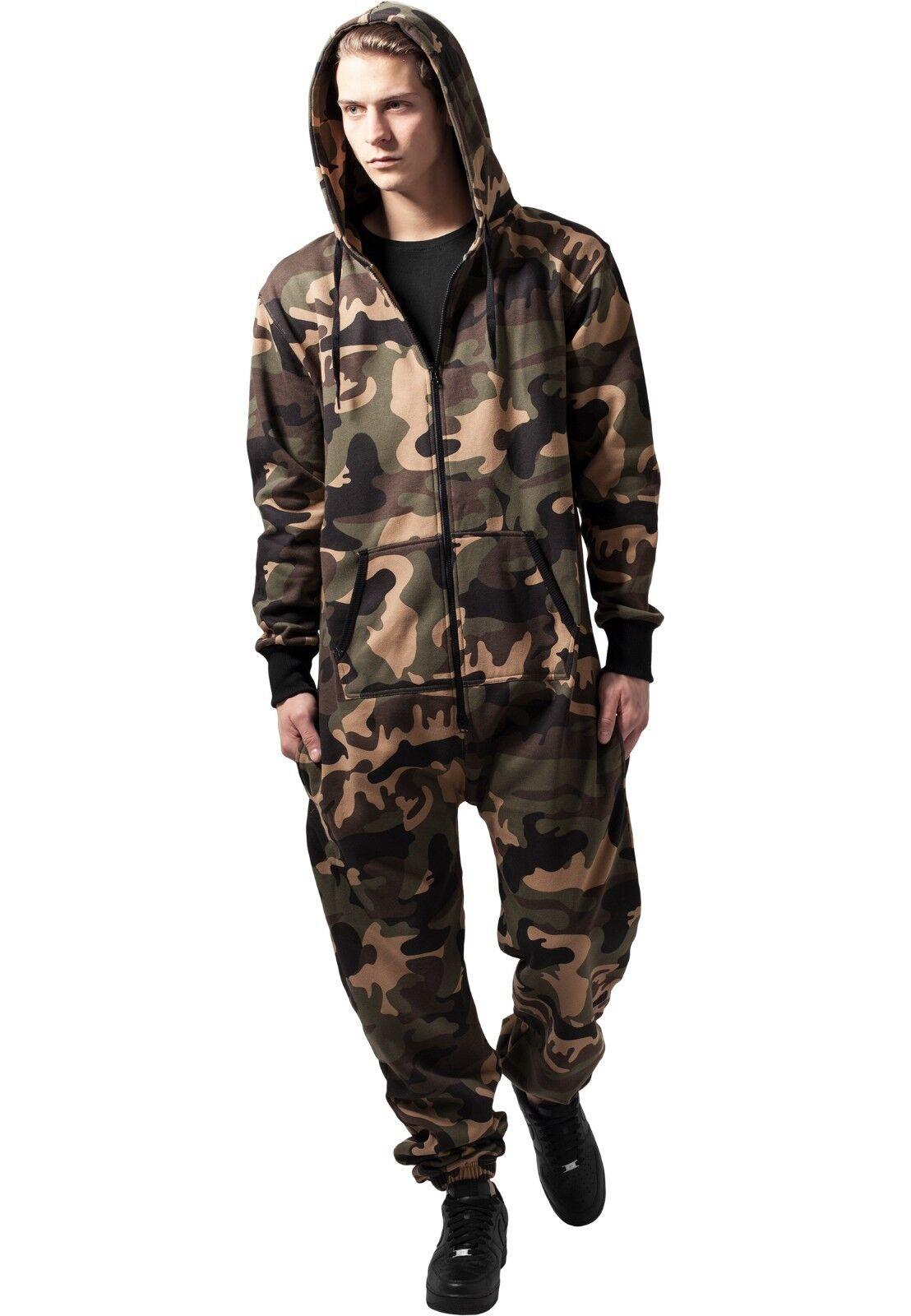 URBAN CLASSICS Tuta intera pantaloni TB581   Camo Militare Sweat Jumpsuit TB581 pantaloni 2a2bf7
