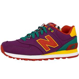 NEW BALANCE WL 574 PY SCARPE DONNA LILLA ARANCIONE wl574py sneakers viola giallo