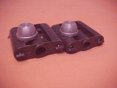 """Elgin Colson Murray Huffy Amf nos 2/"""" x 2/"""" Vintage Black Tricycle Pedals 3//8/"""" ID"""