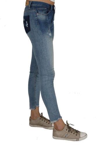 Only Skinny Jeans Carmen Destroyed W28-W31 L32 NEU Damen Stretch Hose Blue Used