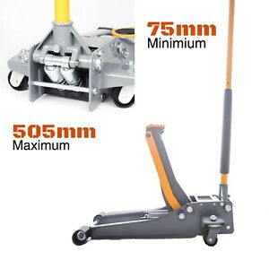 3TON-3T-Super-Low-Profile-Hydraulic-Car-Trolley-DUAL-PUMP-Floor-Jack-75-505mm