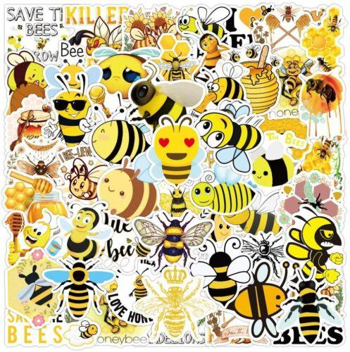 50Pcs Bee Cartoon Kids Stickers Notebook Laptop Box Case Scrapbook Vinyl Decals
