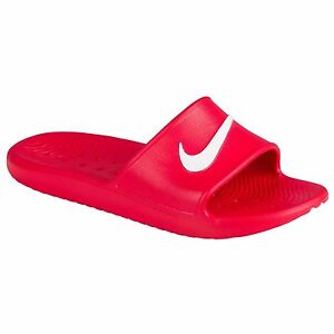 many fashionable huge inventory excellent quality Nike KAWA SHOWER Men's Slide Red/White Slipper 832528 600 Free ...