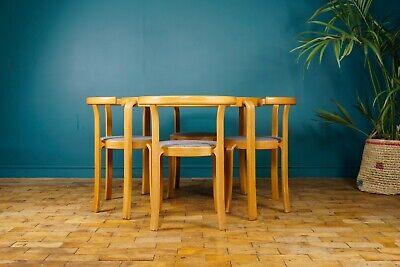 Magnus Olsen Denmark Set Of 4 Danish Dining Room Table Chairs Ebay