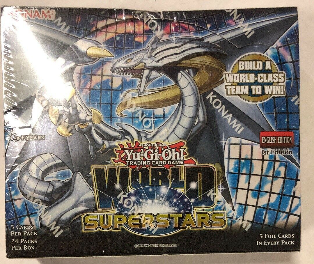 Yugioh World Superstars 1st Edition 24-Count Booster Box TCG CCG Cards