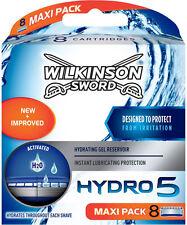 8 Wilkinson Sword Hydro 5 BLADE-Lamette da uomo - 8 CONF. h20 NUOVO