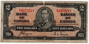 1937-BANK-OF-CANADA-TWO-2-DOLLAR-BANK-NOTE-BR-4677211-NICE-BILL-COYNE