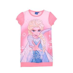 DISNEY-robe-LA-REINE-DES-NEIGES-3-4-5-ou-6-ans-rose-imprime-NEUVE