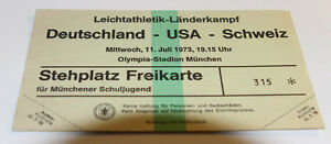 Two tickets Athletic 1978: Germany - USA United States - Switzerland in Munchen - Internet, Polska - Two tickets Athletic 1978: Germany - USA United States - Switzerland in Munchen - Internet, Polska