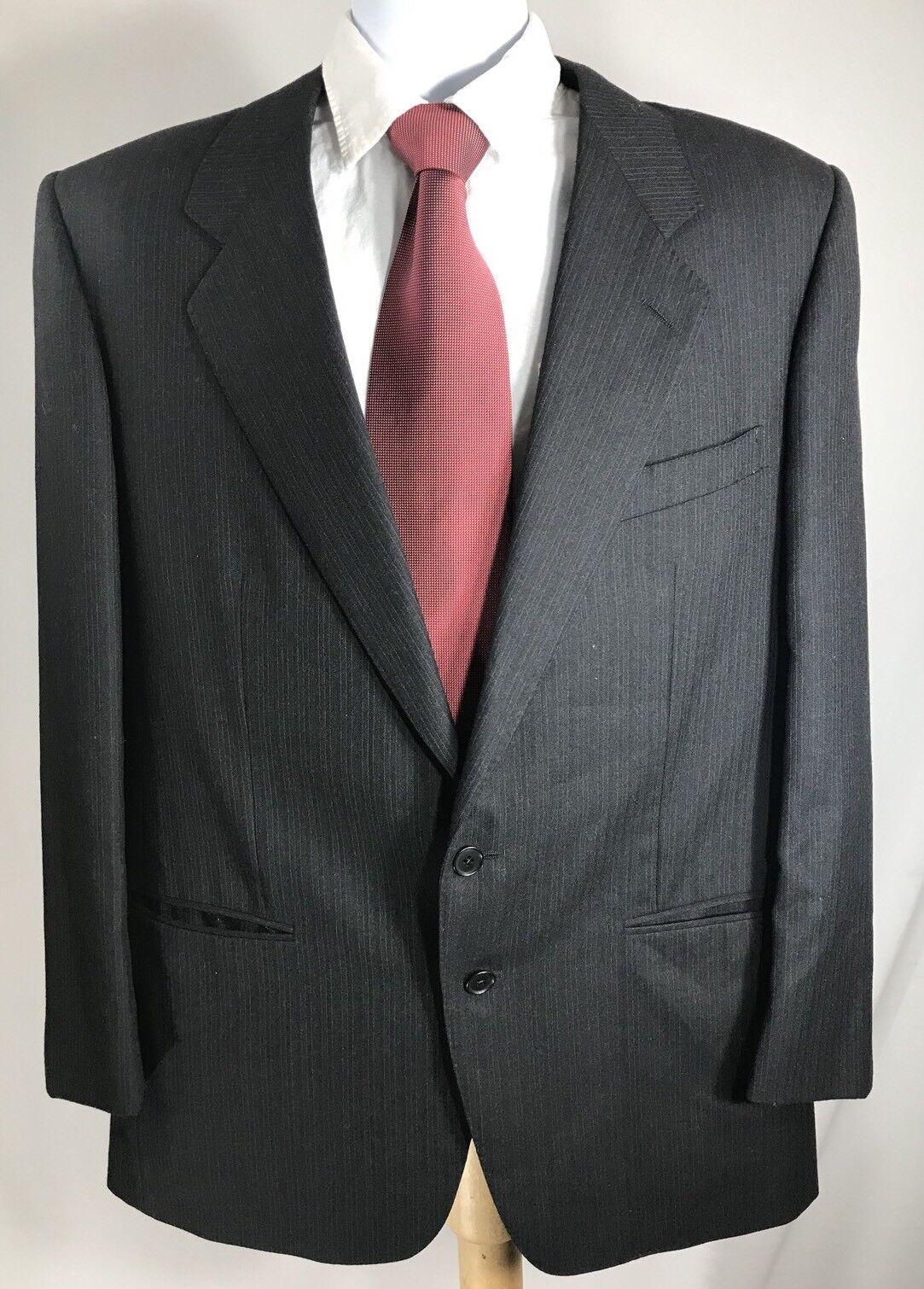 Ermenegildo Zegna Two Button Men Wool Blazer Coat Size US 42 Made In Spain