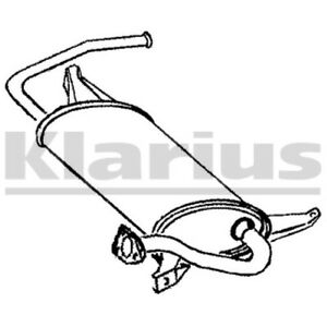 1x klarius replacement rear end silencer exhaust for mitsubishi Peugeot GLX image is loading 1x klarius replacement rear end silencer exhaust for