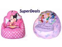 Disney Kids Sofa Bean Bag Chair - Toddler Minnie Mouse, Tinkerbell
