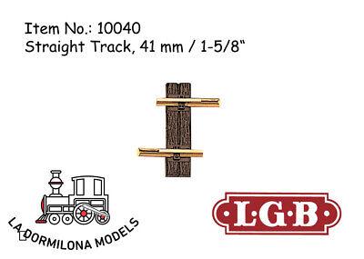 Lgb 10040 Gerades Gleis, 41 Mm Straight Track / Spur G / New Aspetto Elegante