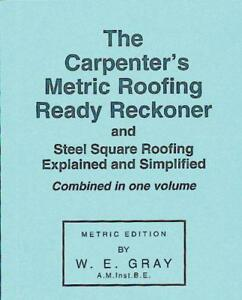 Carpenter-039-s-Metric-Roofing-Ready-Reckoner-by-W-E-Gray-NEW-Book-Paperback-FR